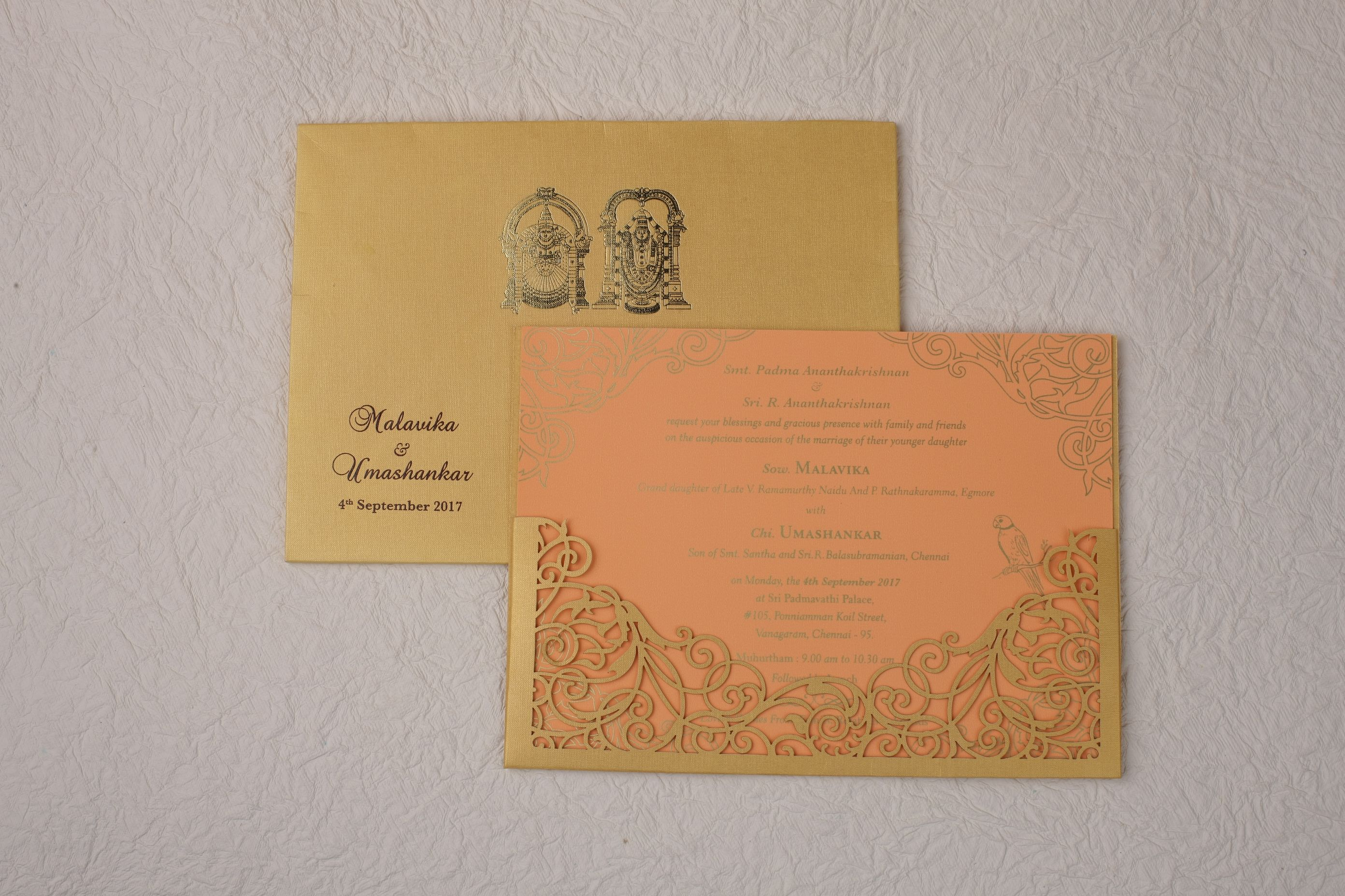 South Indian Traditional Wedding Card Which Conveys Modern And Traditional In A Clas Wedding Necessities Hindu Wedding Invitations Printing Wedding Invitations