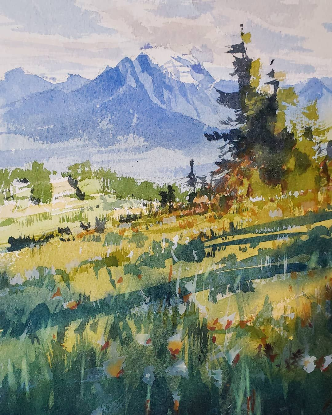 Art Work Image By K Landscape Sketch Fall Watercolor Plein Air