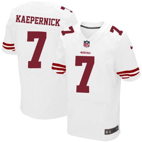 3ee7f2af55c Mens Nike San Francisco 49ers #7 Colin Kaepernick Elite White NFL Jersey  Christmas sale