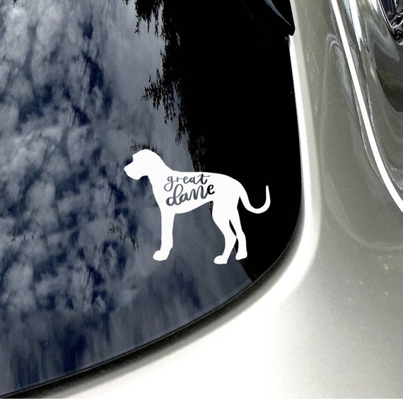 Great Dane Decal Dog Lover Car Sticker Car Accessory Great Dane