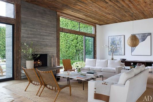Inside Jenni Kayne's home...love the clean lines and neutral tones of her living room
