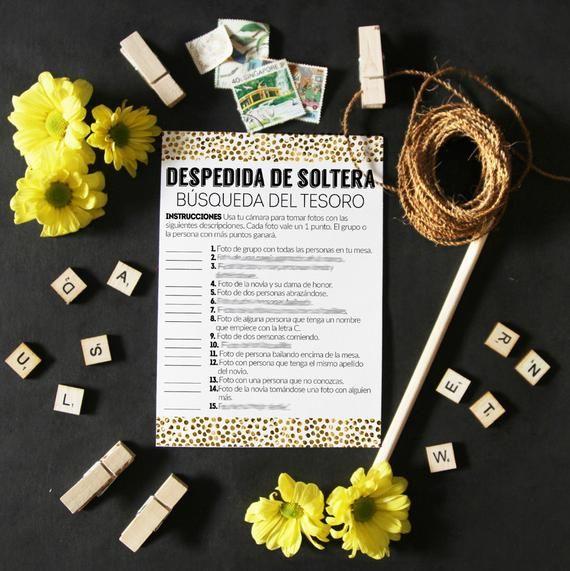 Find the guest, bridal shower games, bridal shower in spanish, bridal shower printables, spanish games, wedding shower games spanish, print
