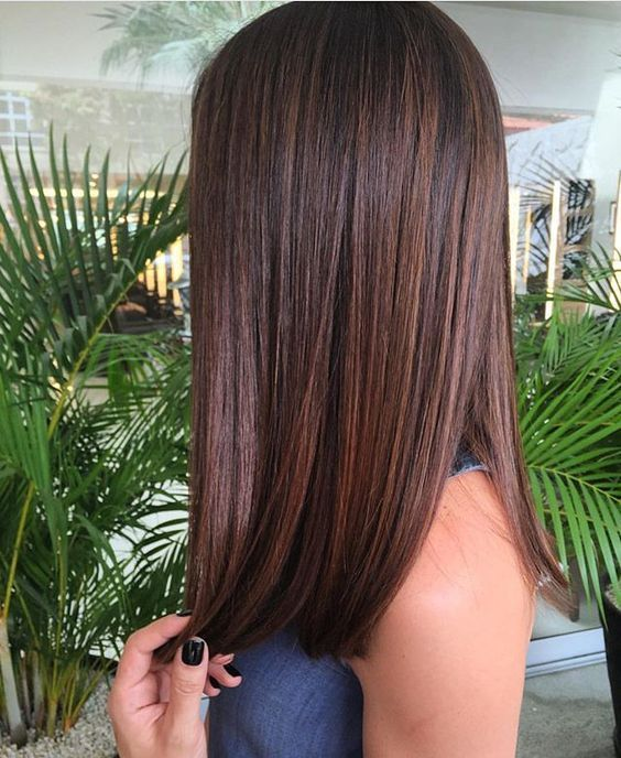 Photo of short long straight hairstyles straight medium length hairstyles shoulder str