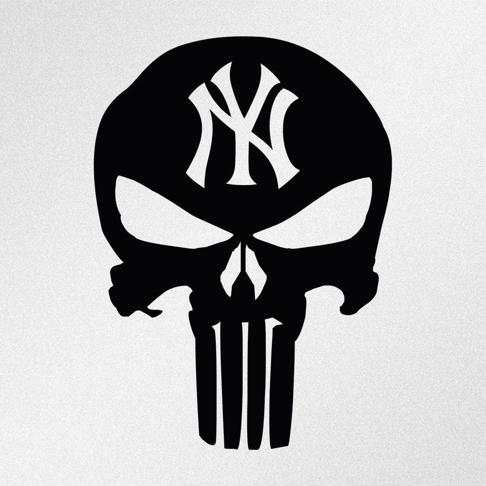 New York Vinyl Sticker Decal Graphic Statue Of Liberty Brooklyn Yankees Skull Punisher Skull Punisher Vinyl Decal Stickers
