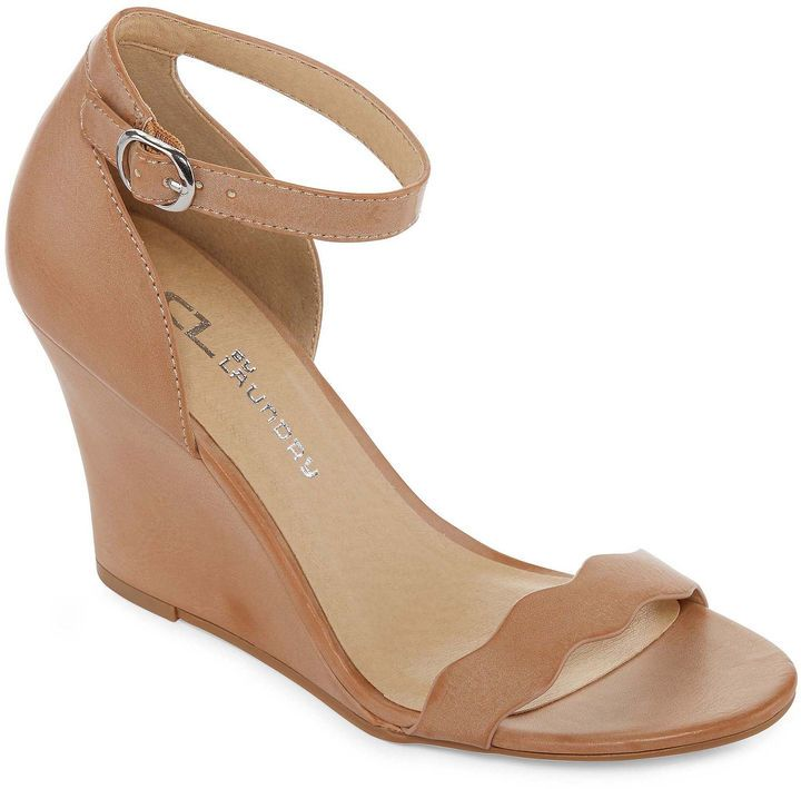 f4c1721279 CL BY LAUNDRY CL by Laundry Nude Wedge Sandals - On sale at JC Penney!   44.99  spring  sandals  nude  shoes  chineselaundry  sale