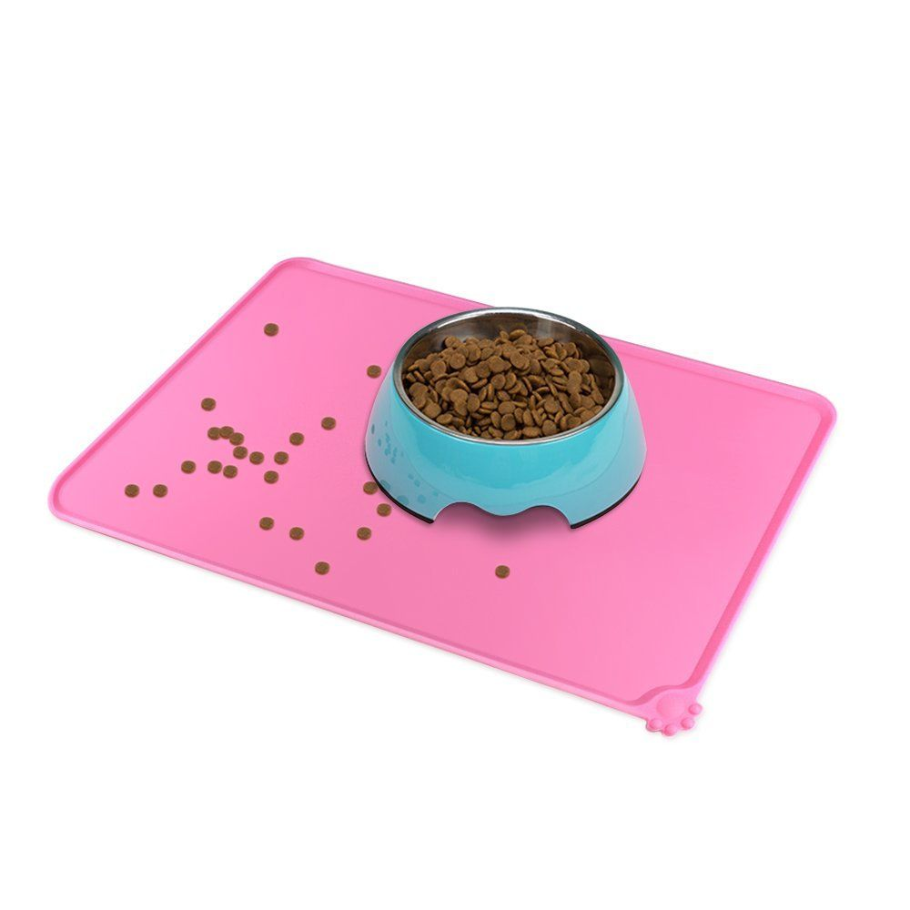 water bowl bed pet food pad cute puppy placemat product mats dish cat feeding dog silicone feed mat