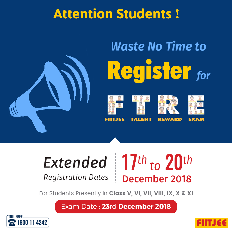 Attention Students! Waste no time to register for #FTRE  Extended