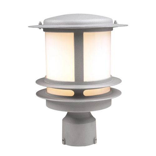 Modern post light with white glass in black finish light posts modern post light with white glass in black finish 1896 bk destination lighting aloadofball Choice Image