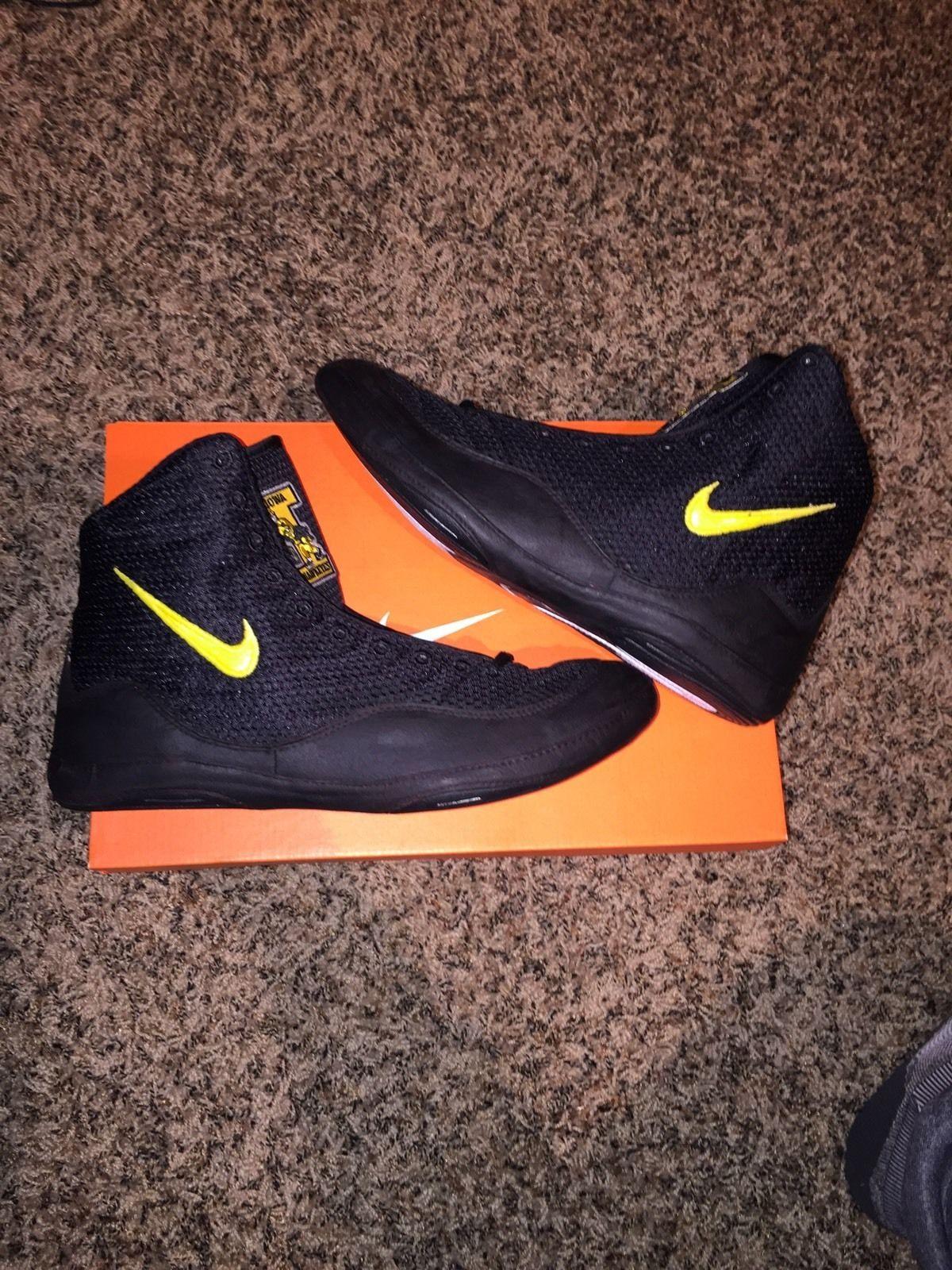 547f38dfe2ef Iowa Hawkeyes Nike Inflict Wrestling Shoes
