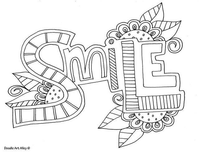 Free Printable Word Coloring Pages From Doodle Art Alley