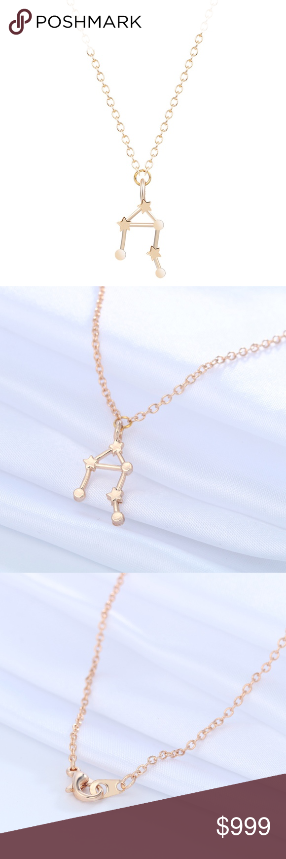 Coming soon k gold libra consellation necklace libra zodiac