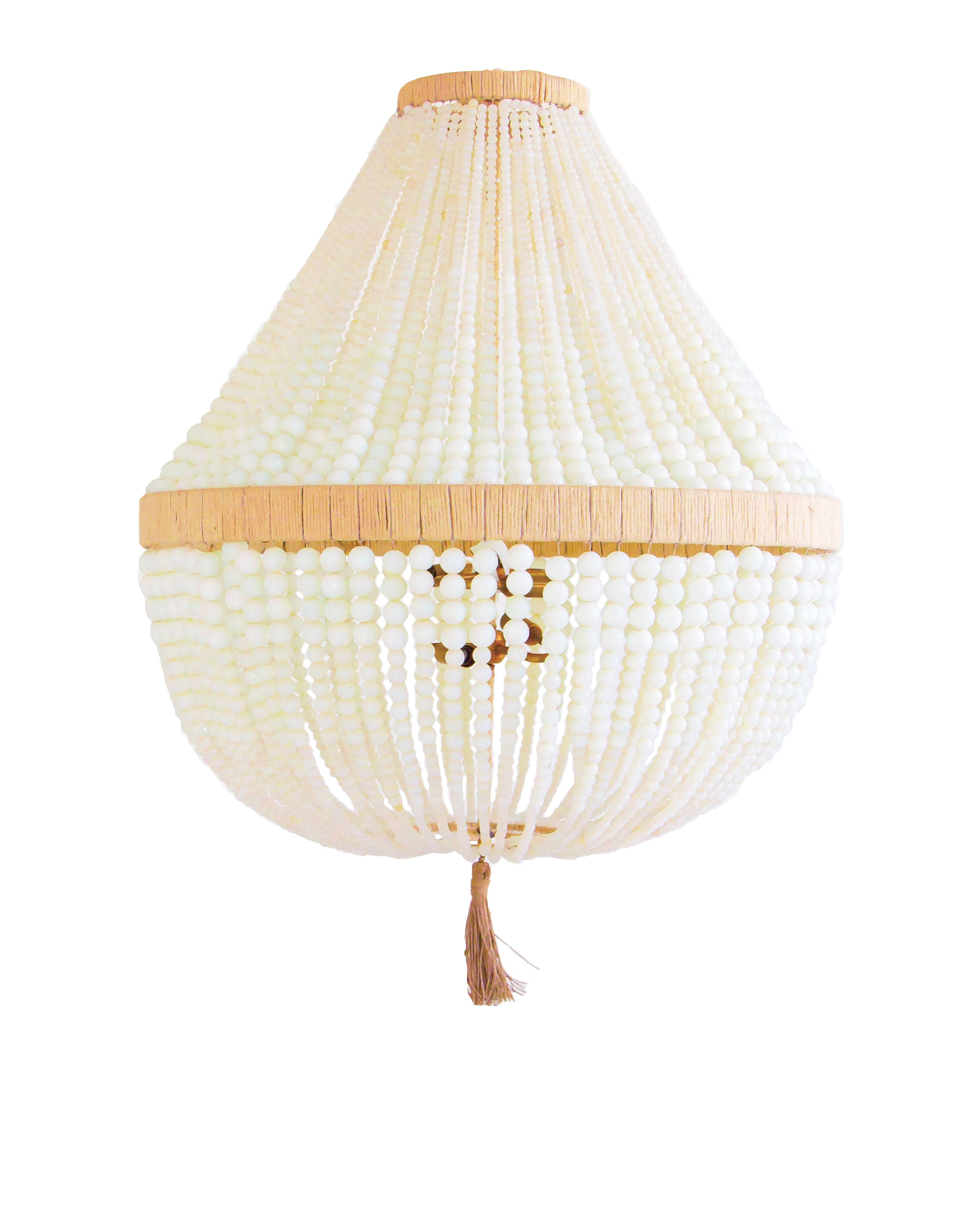 Ro Sham Beaux Orbit 30 x 30 x 40 Beaded chandelier in clear milk