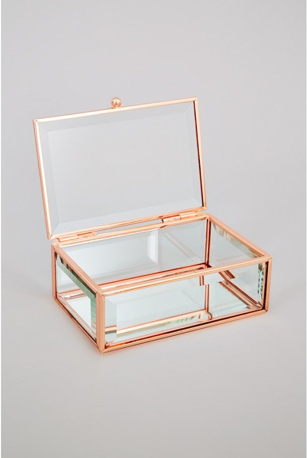Oola Rose Gold Glass Jewellery Box HOME Pinterest Glass