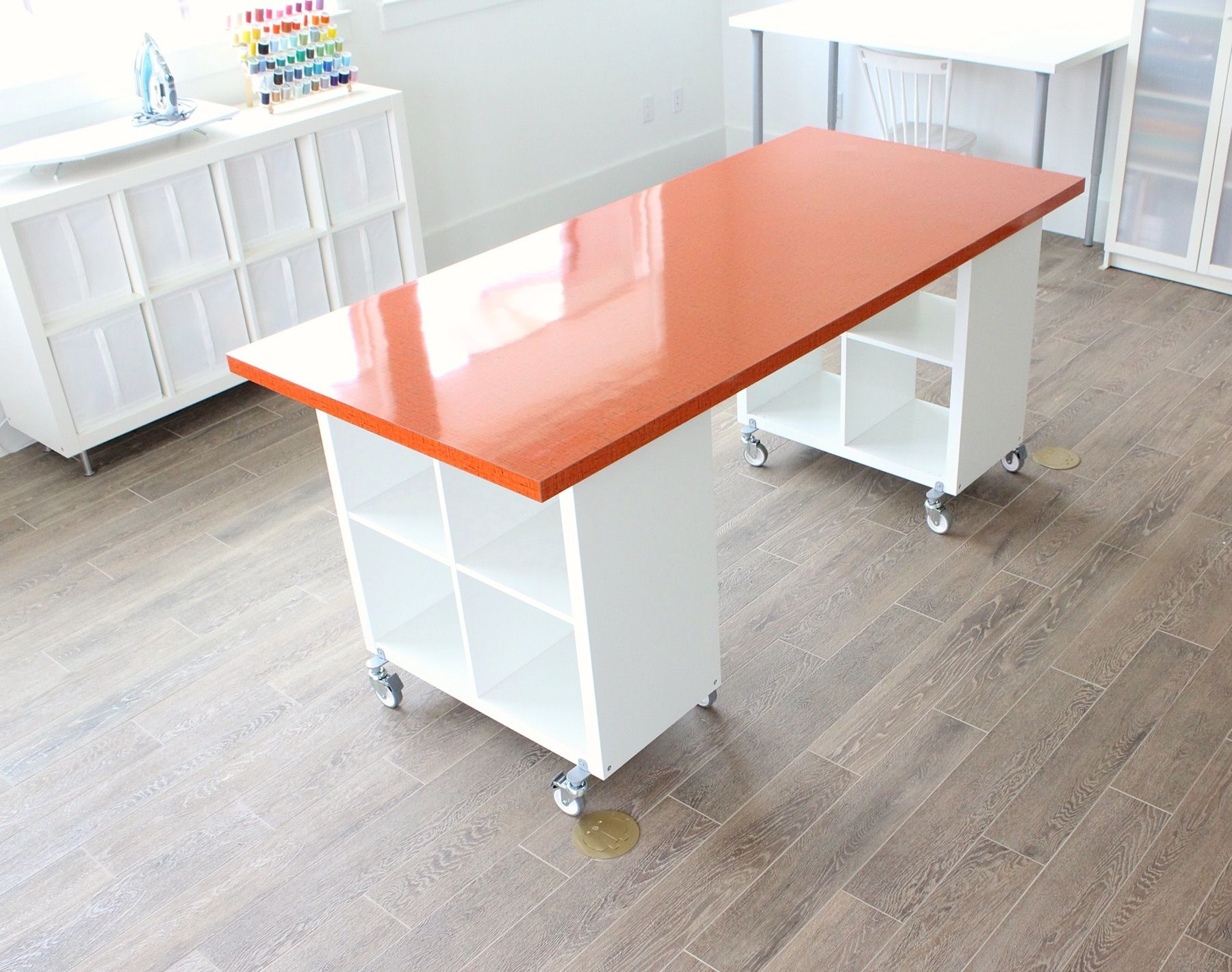 Diy cutting table - Building A New Home The Formica Craft Table Made Everyday