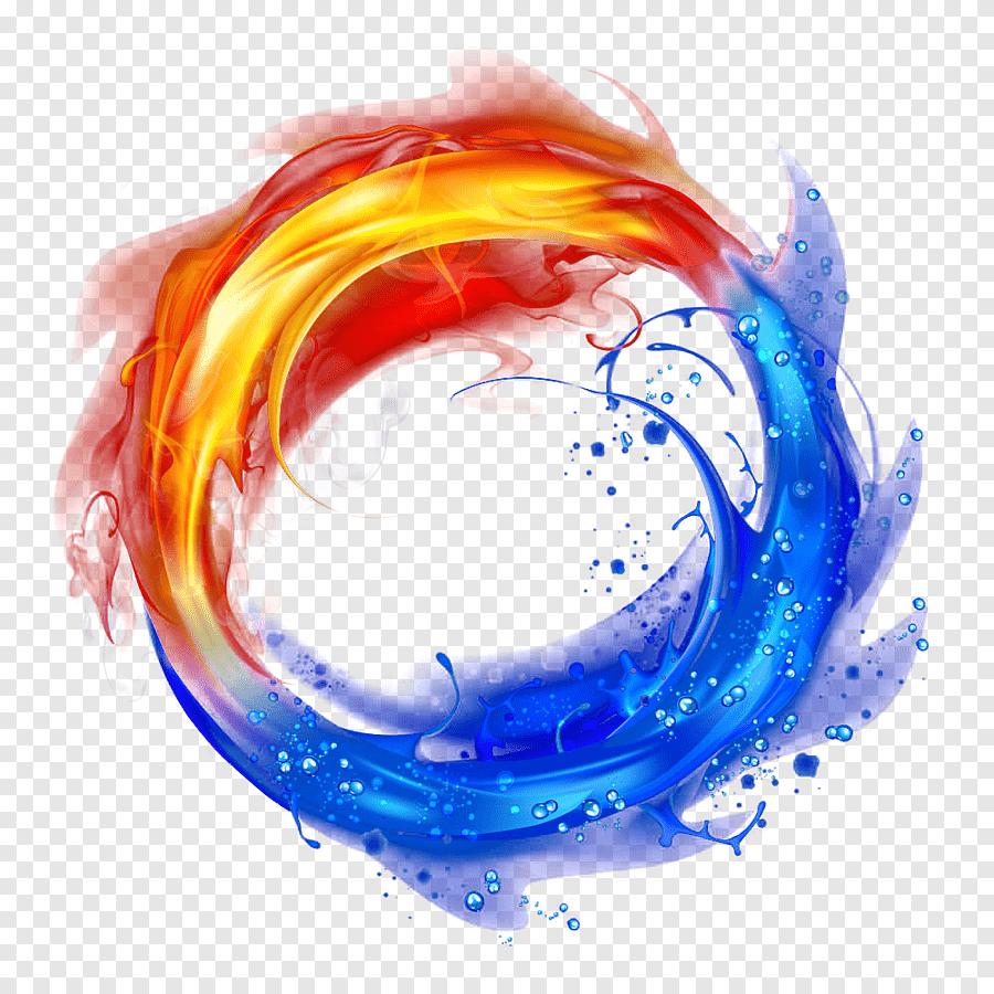 Cool Water And Fire Light Effect Background Fire And Water Yin Yang Sphere Light Effect Png Pngegg Blue Bokeh Beautiful Night Sky Hand Illustration
