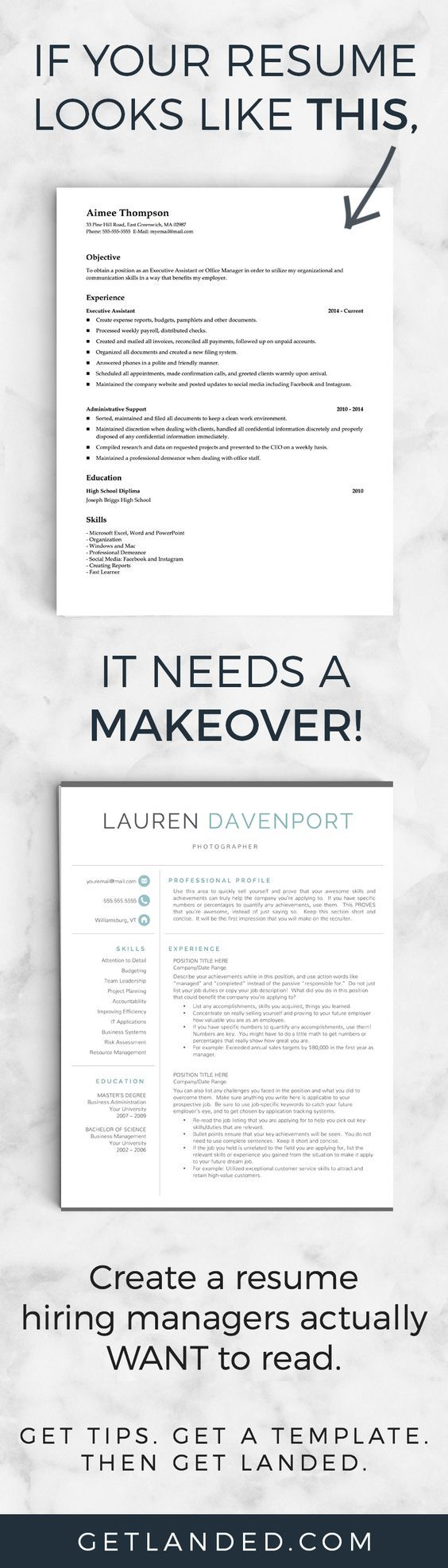 80% of candidates desperately need a resume makeover! Get a resume ...