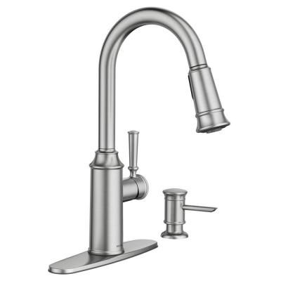 Moen Glenshire Single Handle Pull Down Sprayer Kitchen Faucet In