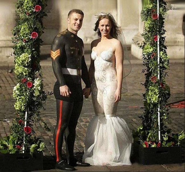Body Paint Wedding Dresses