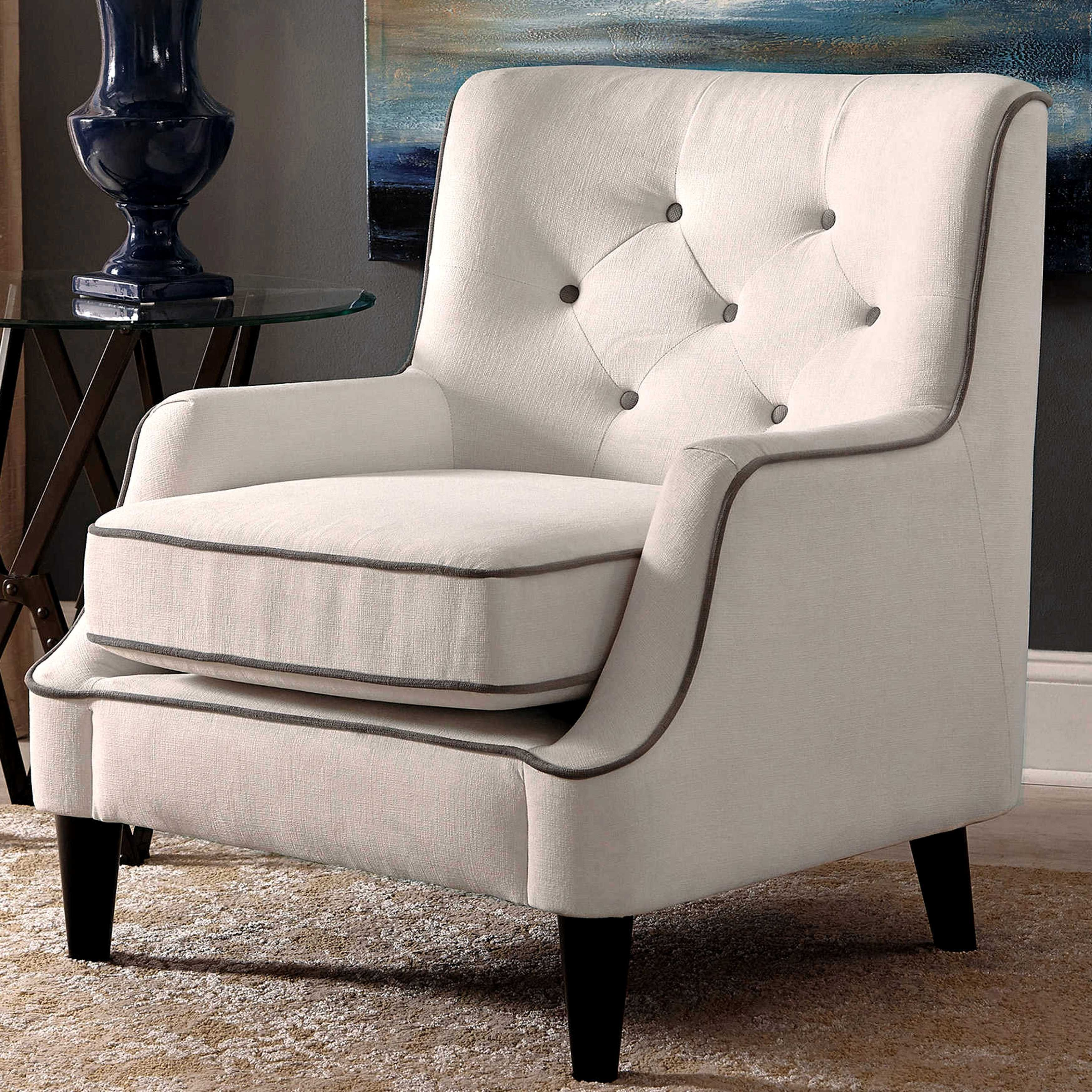 Superb Button Tufted Design Living Room Accent Chair With Contrast Bralicious Painted Fabric Chair Ideas Braliciousco