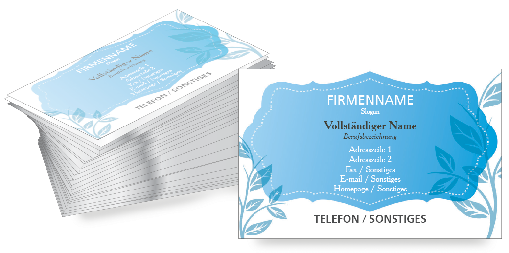 Gestalten Sie jetzt persönliche Visitenkarten in drei verschiedenen Farben bei #onlineprintXXL