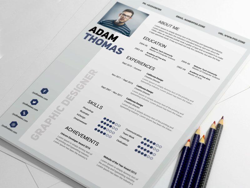 design an attractive resume or CV Dog