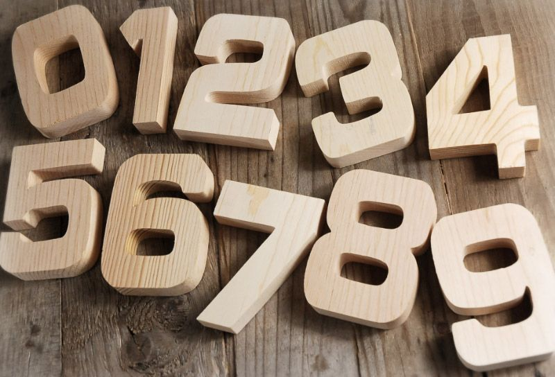 Number 1 Wood Sign 4in | Pine, Number and Table numbers