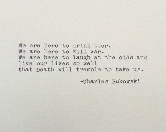 Bukowski Quotes Custom She Had Wild Eyes Charles Bukowski Bukowski Typed Quote