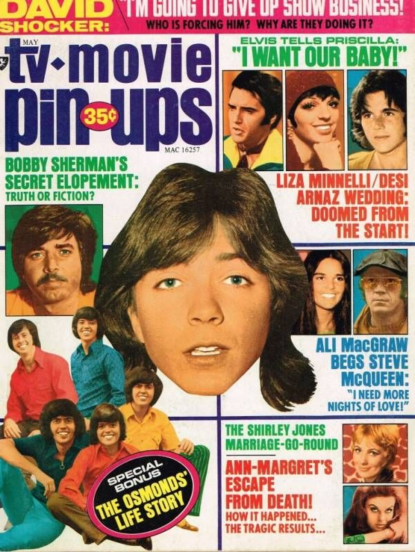 Lots of teen idol pinups in this mag! David Cassidy, The Osmonds, Desi  Arnaz, Jr., Bobby Sherman, and more!