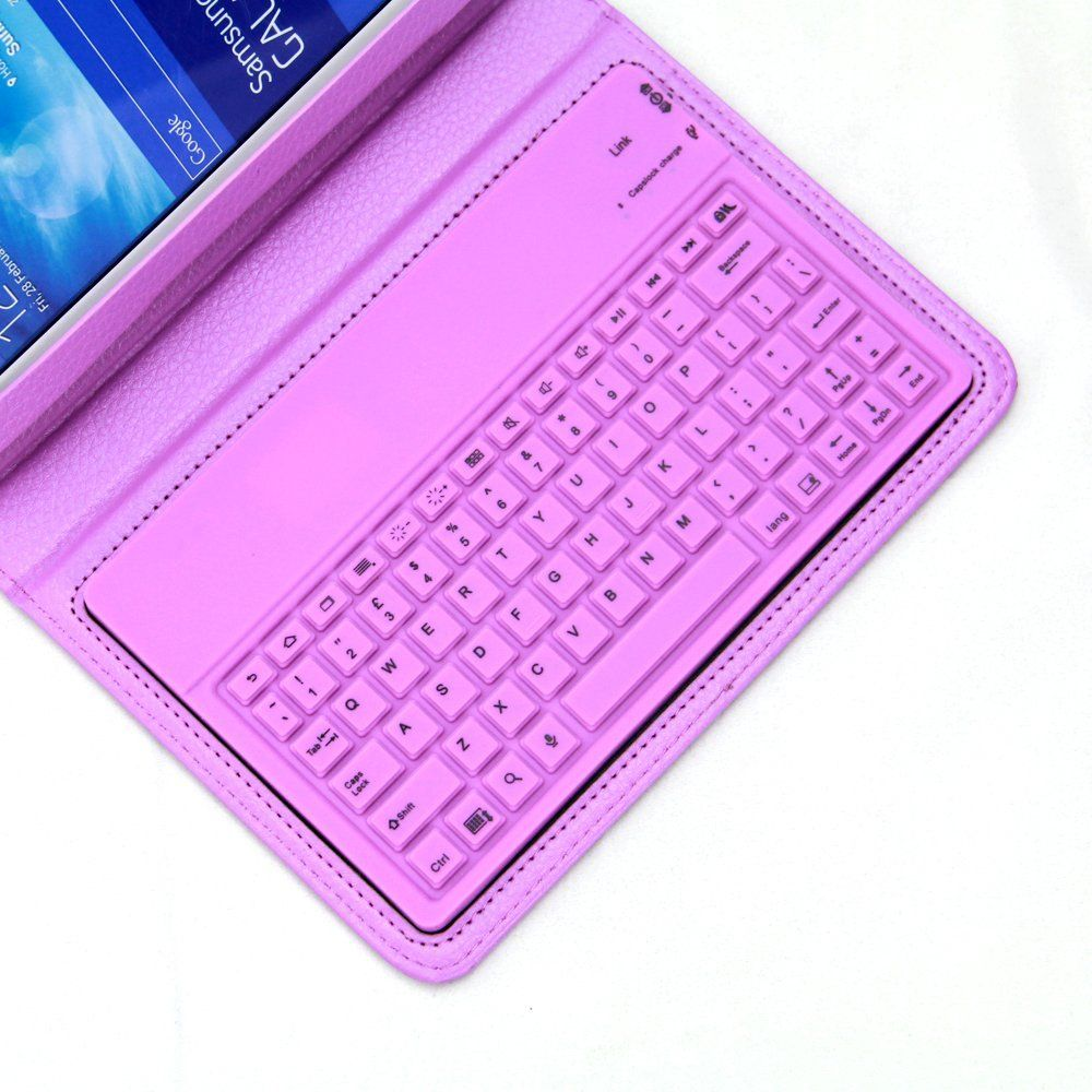 43381e49728 Amazon.com: NEWSTYLE Purple Samsung Galaxy Tab 3 Lite 7-inch Case -  Wireless Bluetooth Keyboard Cover for Galaxy Tab 3 Lite T110 / T111 7.0  Inch Android ...