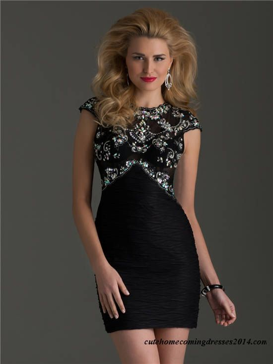 Clarisse 2494 Beaded High Neck Short Tight Prom Dress | Boujee ...