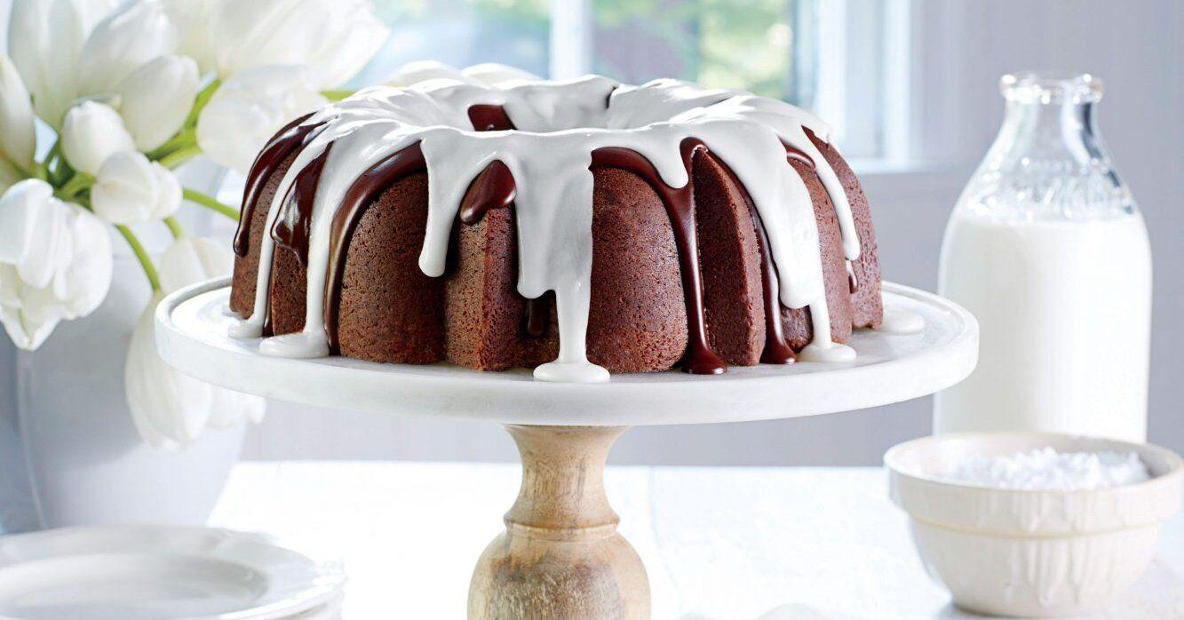 Triple Chocolate Buttermilk Pound Cake Recipe Recipe In 2020 Pound Cake Recipes Desserts Delicious Chocolate