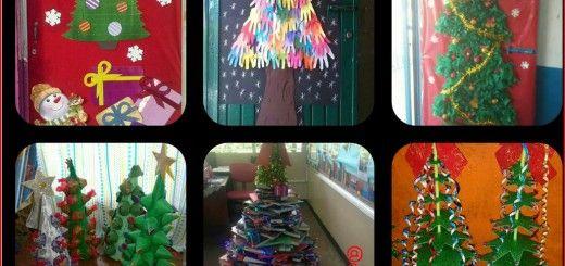 Arboles de navidad manualidades iv collage navidad for Manualidades navidenas preescolar