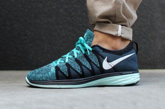 f05d83611334 Nike Flyknit Lunar2 - Black Sport Turquoise