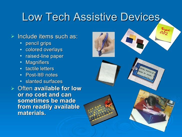 Assistive Technology In Education Low Tech Google Search