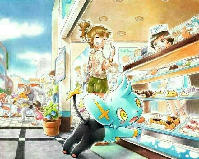 trainer shinx cute sweets bakery shop pok233mon