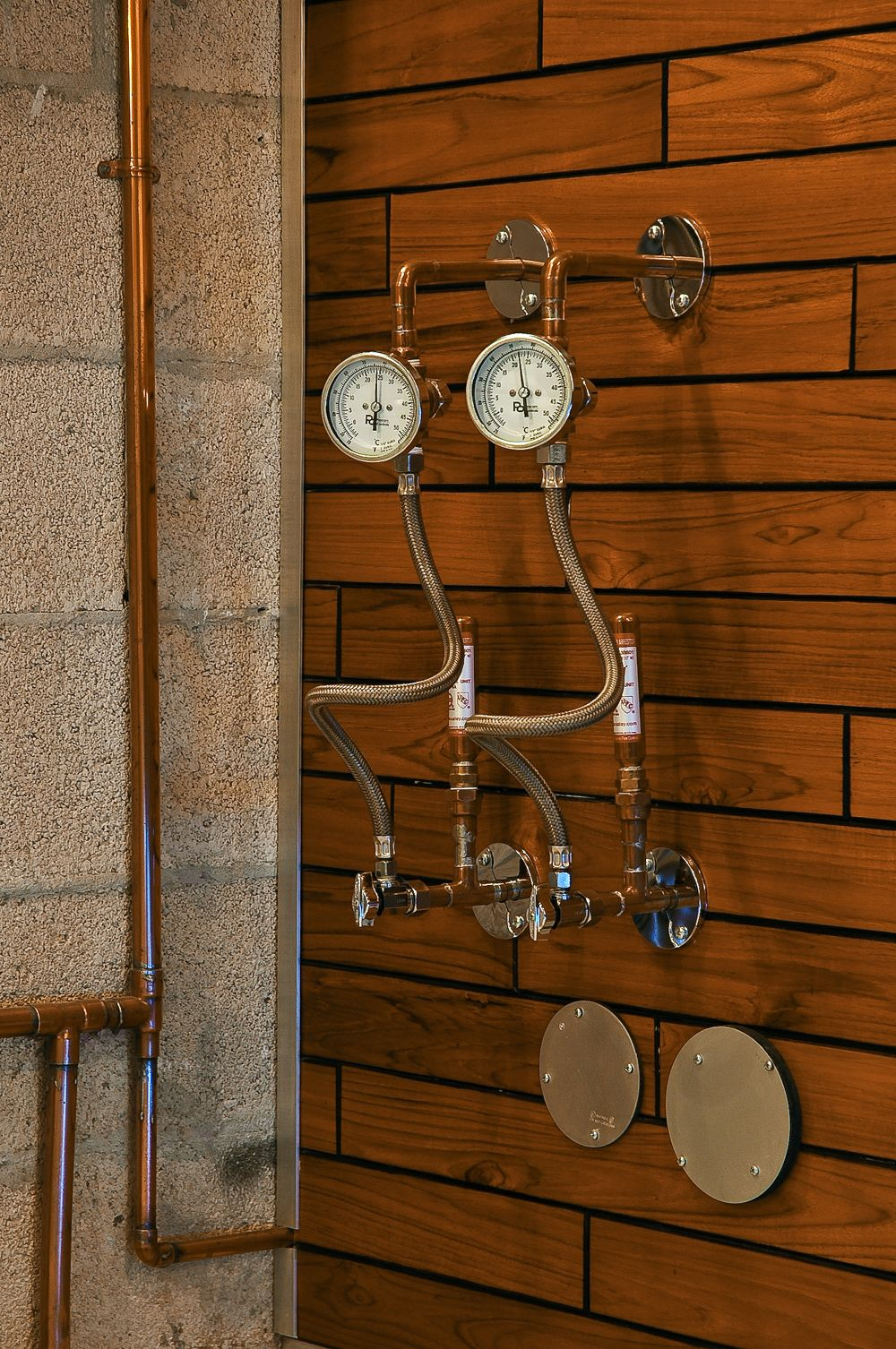 Practical Steampunk Hot And Cold Water Shutoff Valves With
