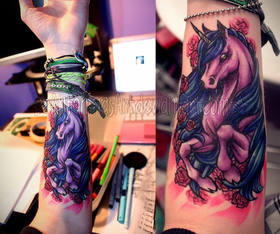Unicorn Tattoo by AntoninasArt on deviantART