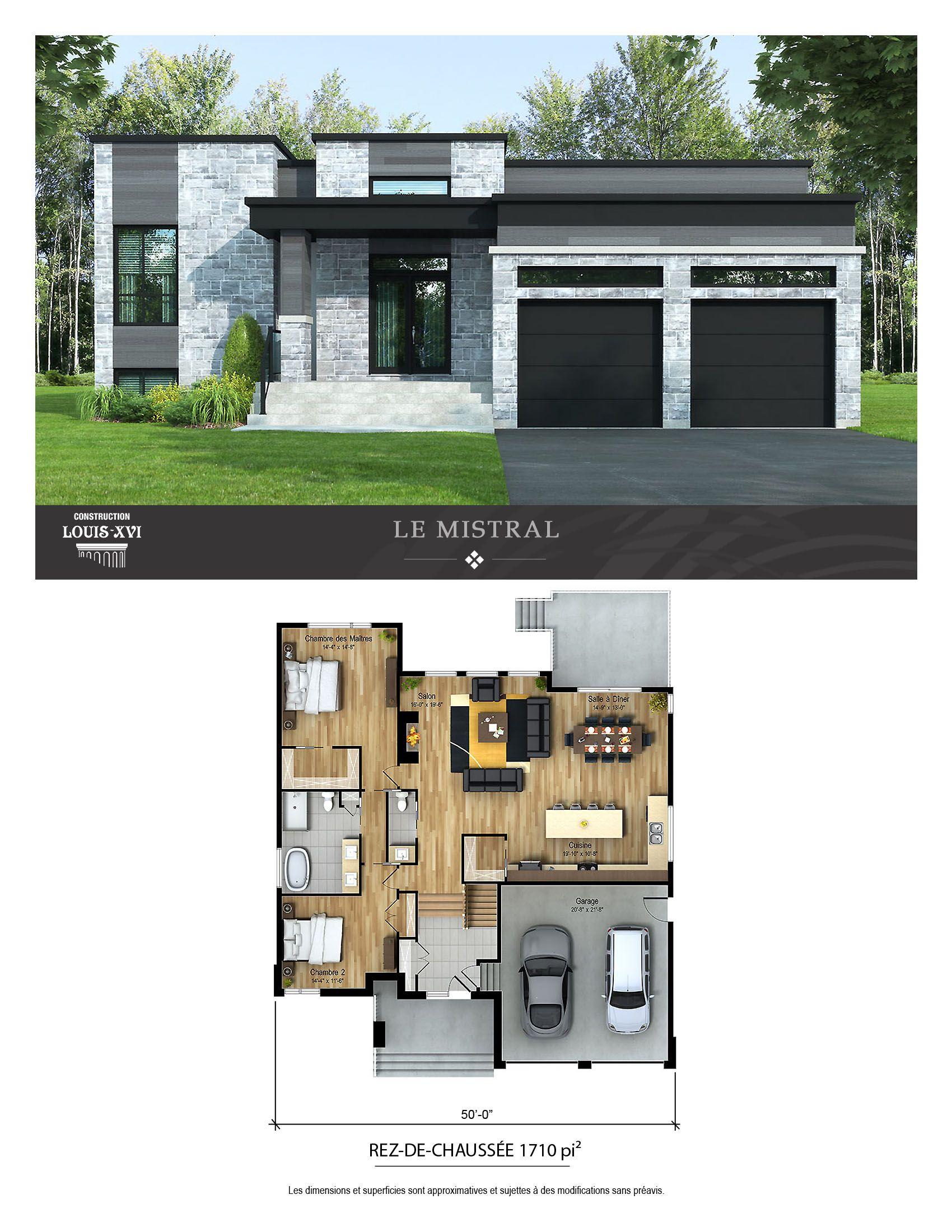 Maisons Neuves Avec Toits Plats A Vendre Construction Louis Seize Construction Maison Moderne Plans De Maison Bungalow Plan Maison Moderne