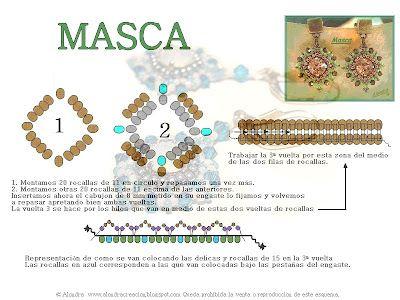 Alondracreacion: Pendientes Masca (Esquema)1