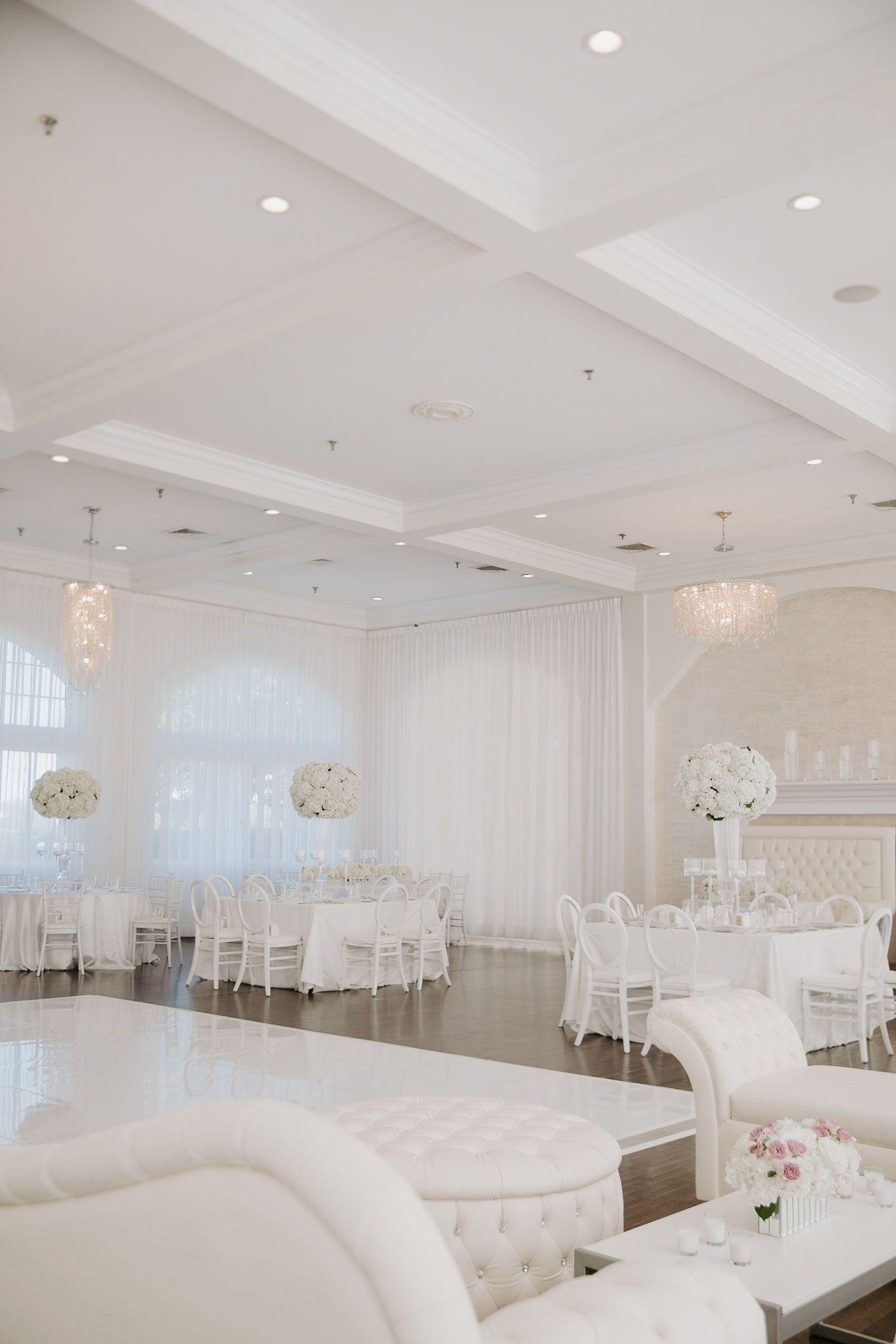 Elegant white wedding space on the coast of Newport, Rhode ...