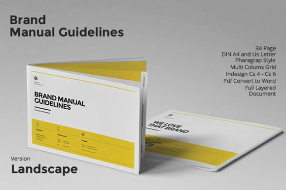 Brand Manual Landscape by fahmie on Creative Market planing - manual templates