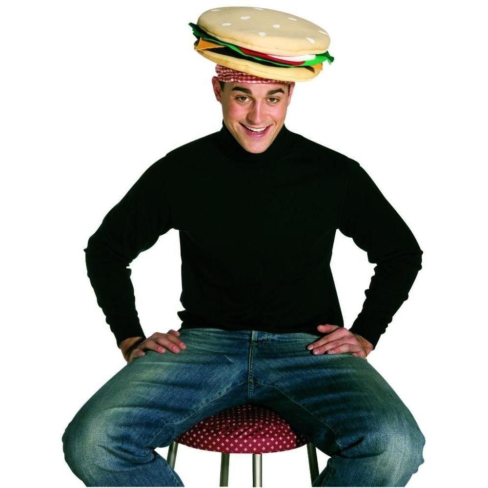 Adult Cheeseburger Costume Hat