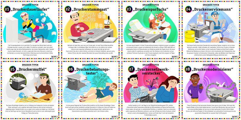 Die Verschiedenen Mitarbeitertypen Und Ihr Umgang Mit Dem Burodrucker Erkennen Sie Sich Wieder Druckertinte Tintenstrahldrucker Tintenpatronen