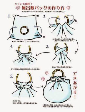 Kendőből táska és egyebek - még mindig Furoshiki #furoshikituto