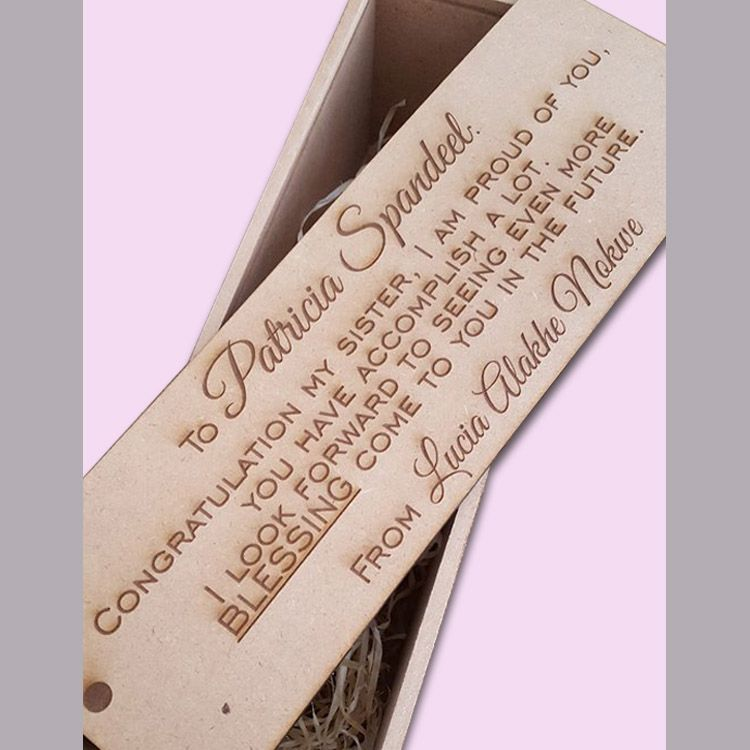 Custom Engraved Wine Box Ideal For Wedding Gifts Cape Town South Africa Polkadot