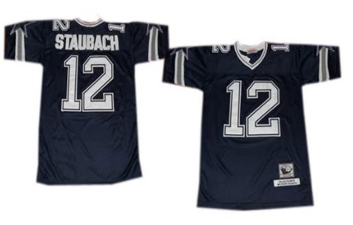 hot sales 325f1 b82e3 Dallas Cowboys #12 Roger Staubach Blue Throwback Jersey ...