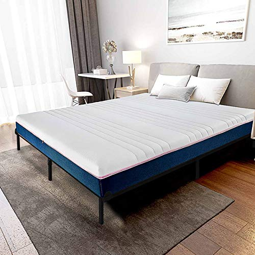 Queen Size Bed Frame for Box Spring and Mattress Set