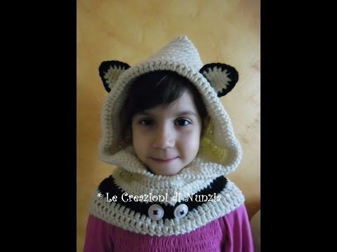 VIDEO-TUTORIAL COLLO-CAPPUCCIO CON ORECCHIE A UNCINETTO per bimbi di 6-10  anni !!! 1° PARTE... - YouTube c3431941be8f