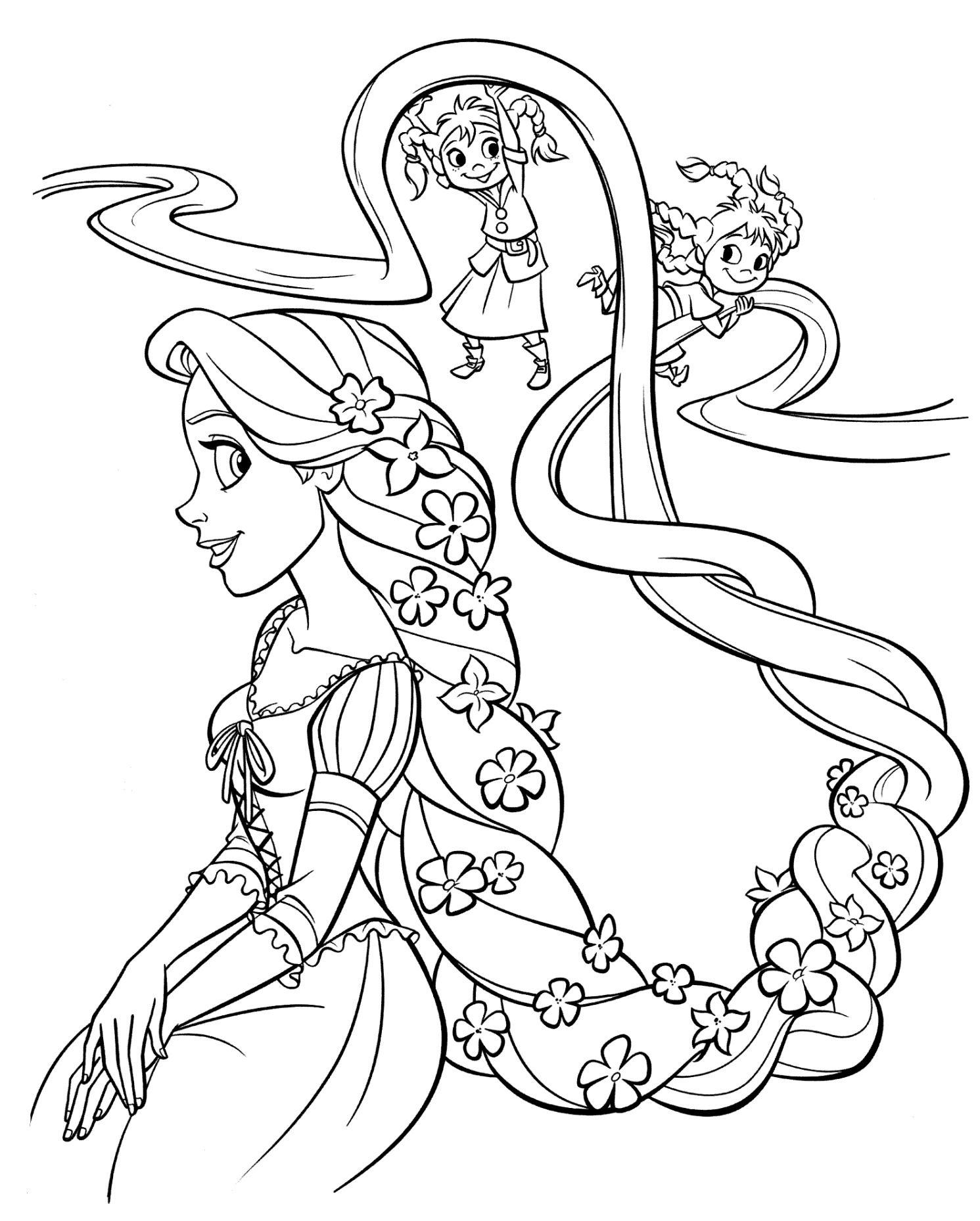 Rapunzel 002 Malvorlage prinzessin Disney prinzessin