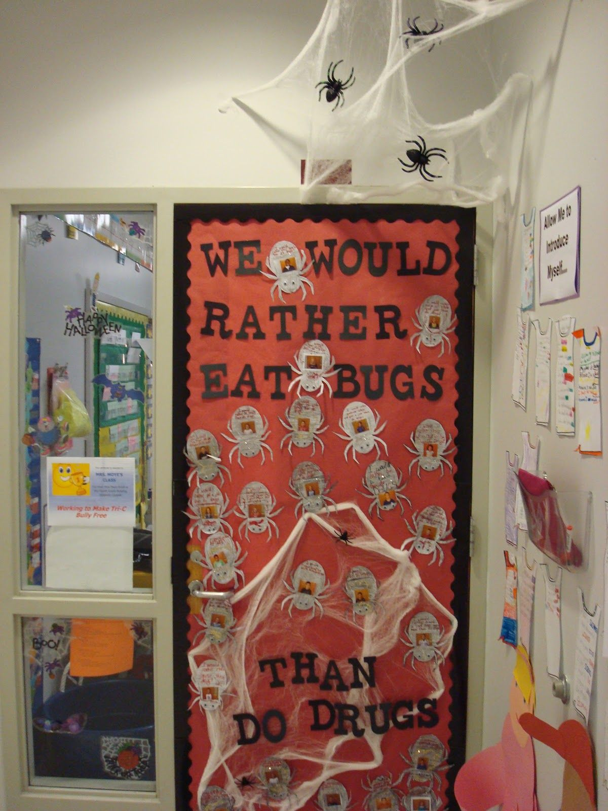 Mrs Moyes Class Door Contest For Red Ribbon Week Halloween